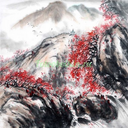 Фотообои Красный клен в горах