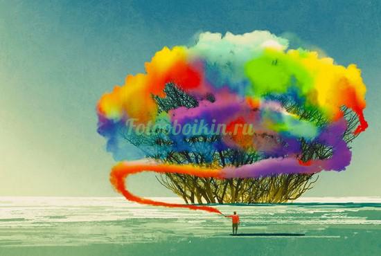 Фотообои Цветной куст