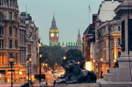 Фотообои Статуи со львами