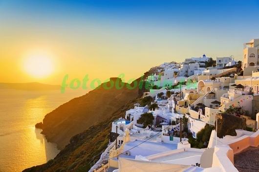 Фотообои Закат в Греции