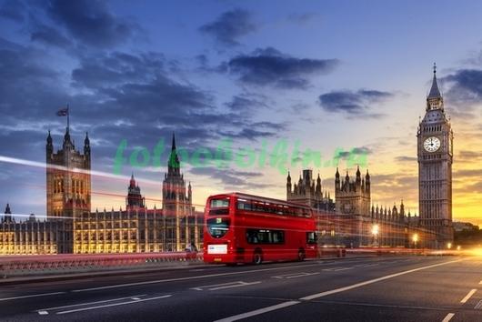 Фотообои Лондон красный автобус
