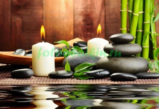 Фотообои Черные камни бамбук