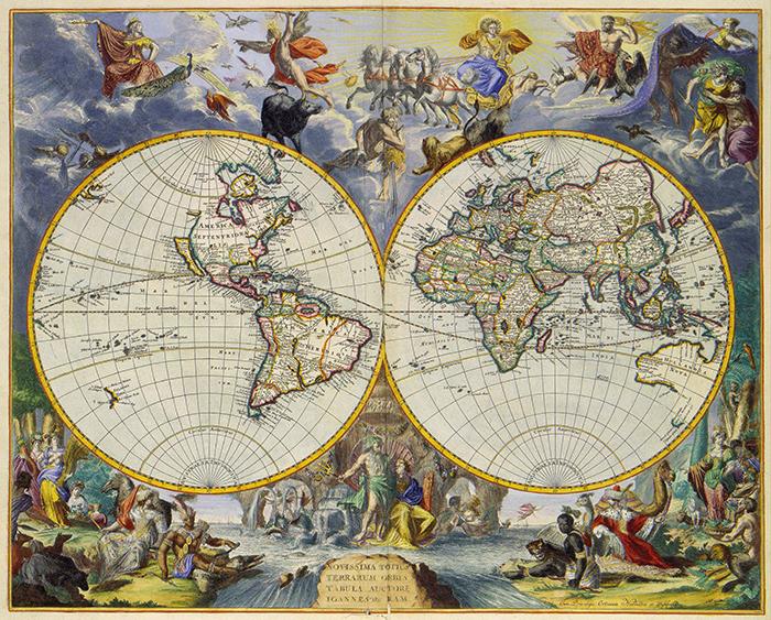 Фотообои Карта старинная