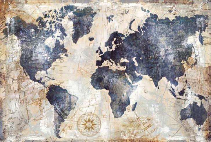 Фотообои Карта мира арт