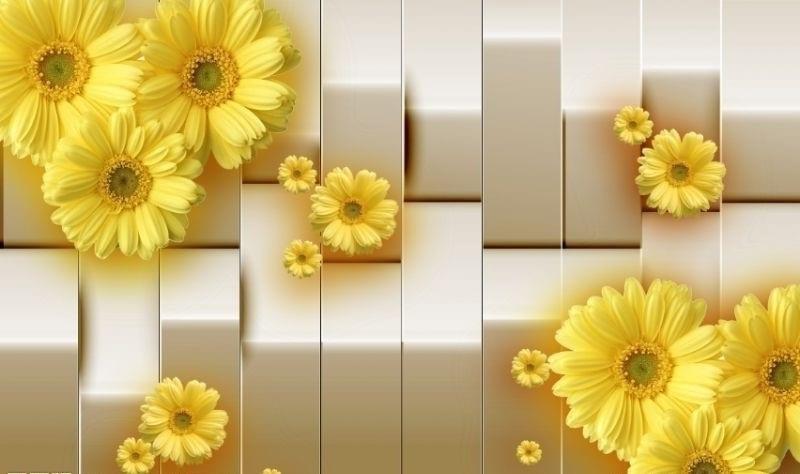 Фотообои 3Д с желтым