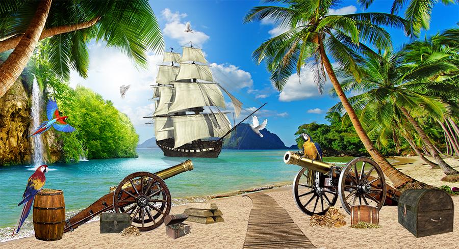 Фотообои Остров с карибскими сокровищами