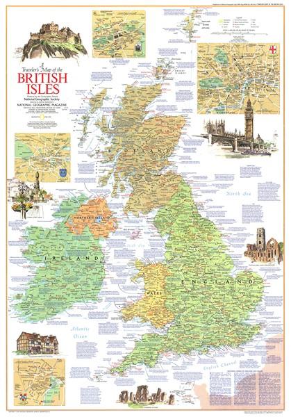 Фотообои Карта Великобритании