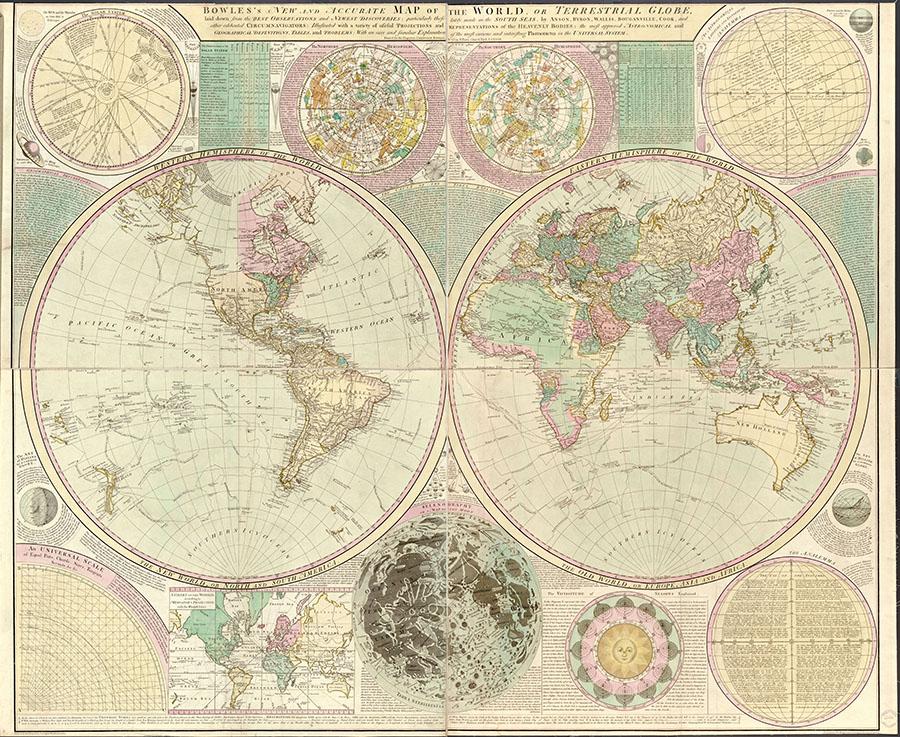 Фотообои Старинная карта мира