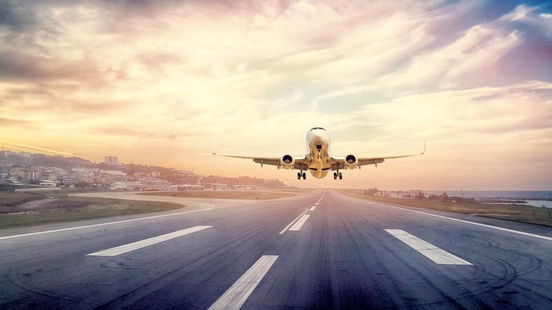 Фотообои Самолет на закате