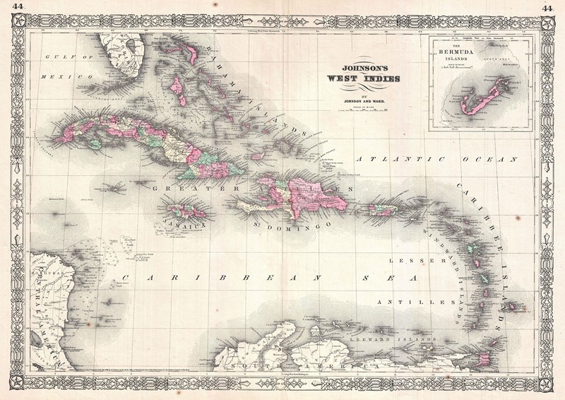 Фотообои Старая бежевая карта