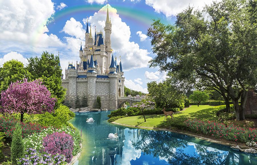 Фотообои Замок в Дисней