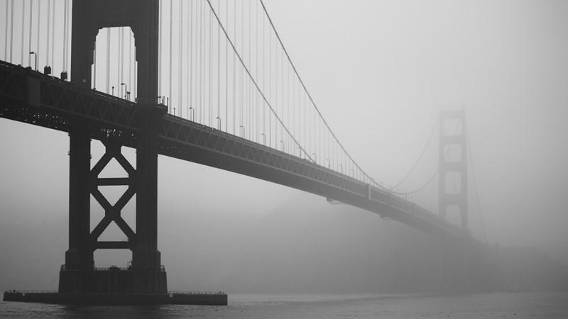 Фотообои Мост туман