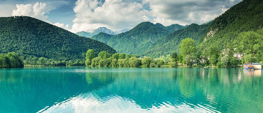 Фотообои Лес озеро