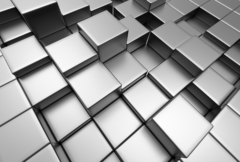 Фотообои Черные кубы