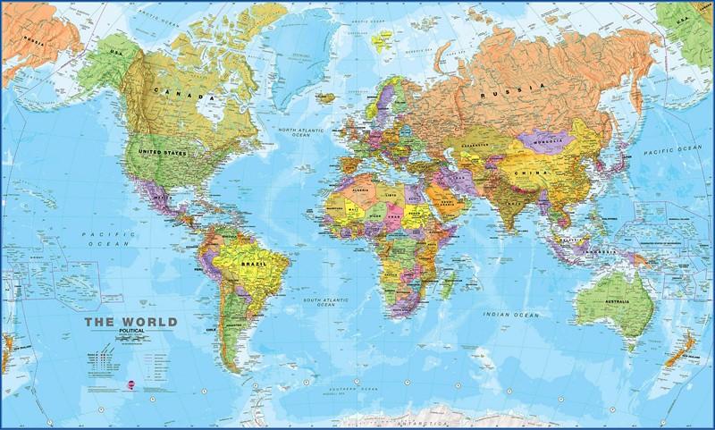 Фотообои Карта мира страны