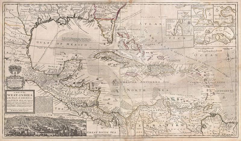 Фотообои Карта мира старая бежевая
