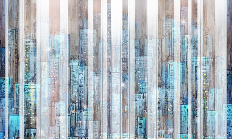 Фотообои Рисунок города