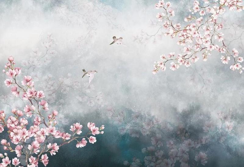Фотообои Цветение сакуры