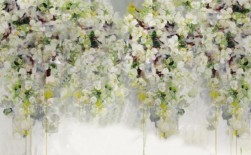 Фотообои Цветы на фоне