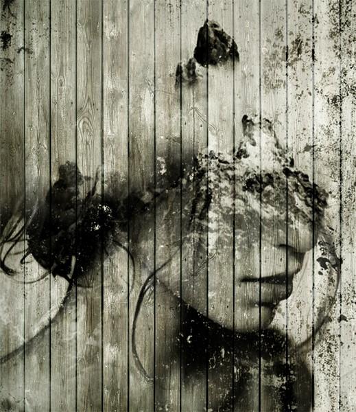 Фотообои Девушка черно белая