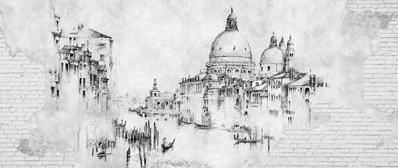 Фотообои Венеция рисунок
