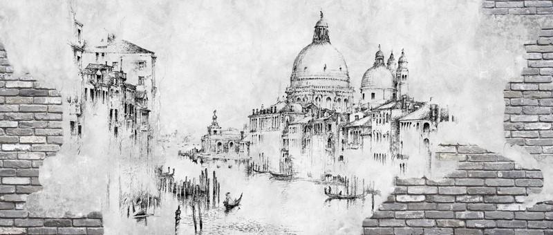 Фотообои Венеция в стене