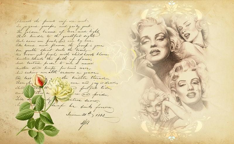 Фотообои Монро письмо