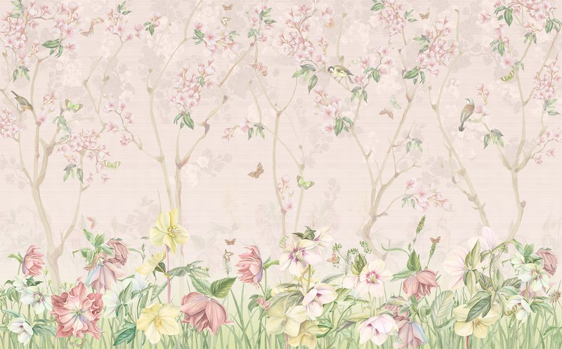 Фотообои Нежно розовые