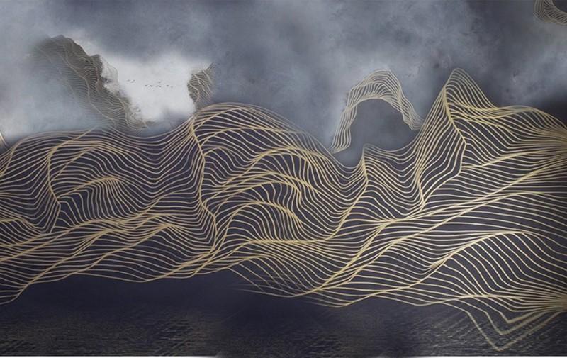 Фотообои Волны объемные