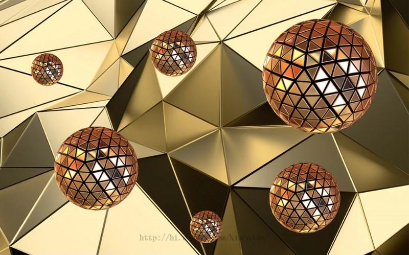 Фотообои Авторские Треугольные шары