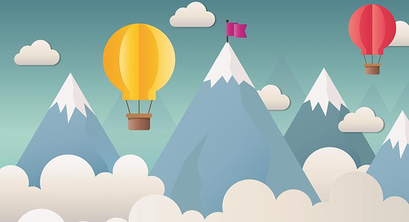 Фотообои Абстракция воздушные шары