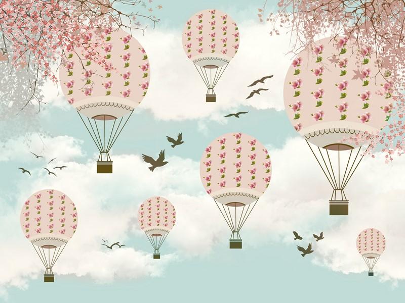 Фотообои Небо в воздушных шарах