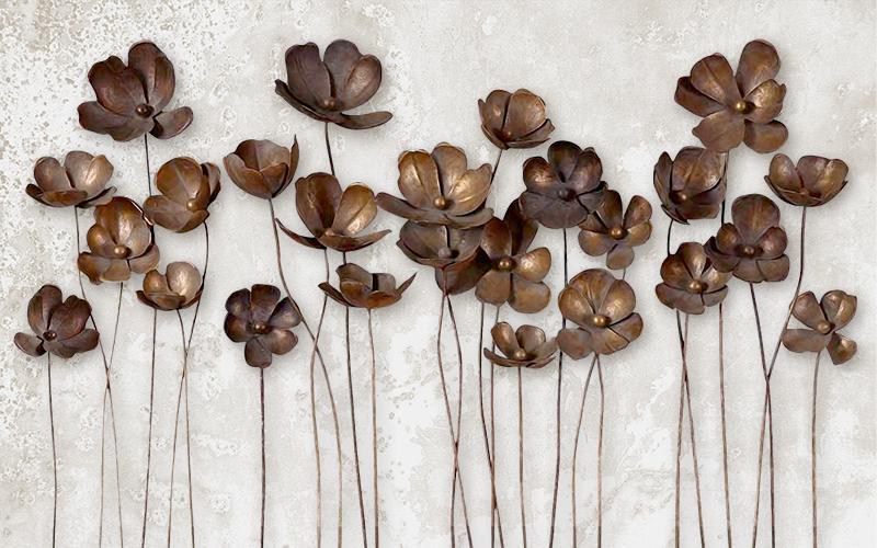 Фотообои Бронзовые цветы