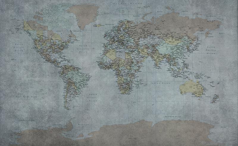 Фотообои Географическая карта