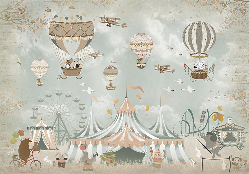 Фотообои Цирковые животные