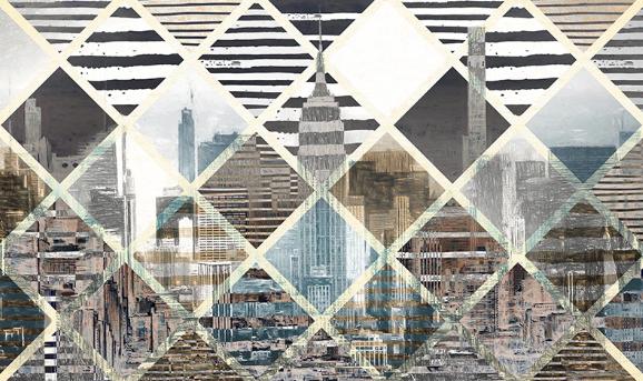 Фотообои Мозаика город