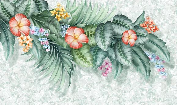 Фотообои Авторские обои вьющиеся листья