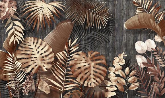 Фотообои Бронзовая листва