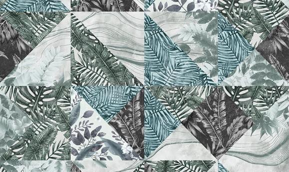 Фотообои Абстракция листья в треугольных формах