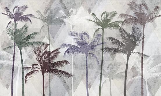 Фотообои Серые пальмы