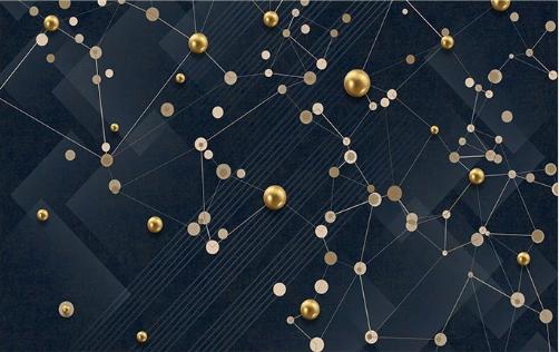 Фотообои Абстракция золотые точки