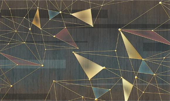 Фотообои Абстракция золотые линии