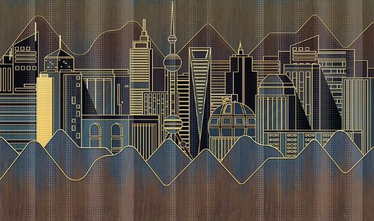 Фотообои Город будущего