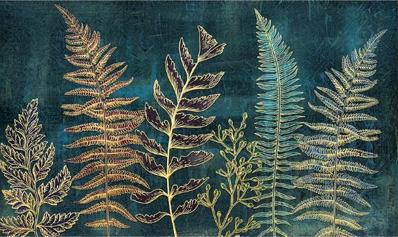Фотообои Трава на флуоресцентном фоне
