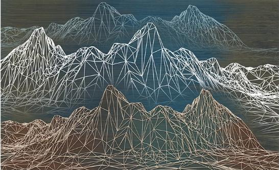 Фотообои Графичные горы