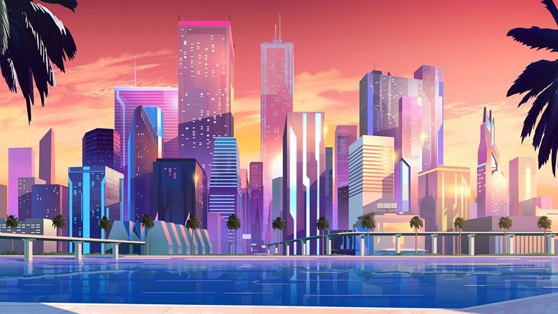 Город будущего абстракция