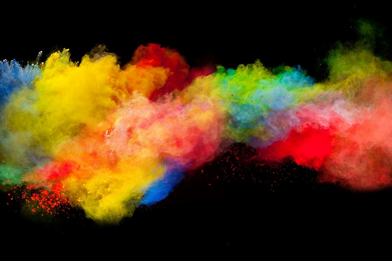 Абстракция красочный взрыв