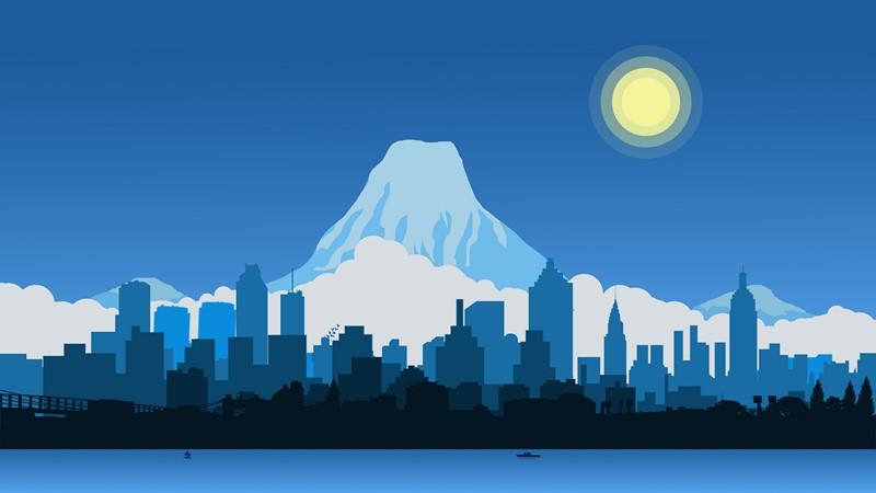 Гора Эверест абстракция