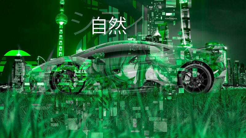 Абстракция японская машина