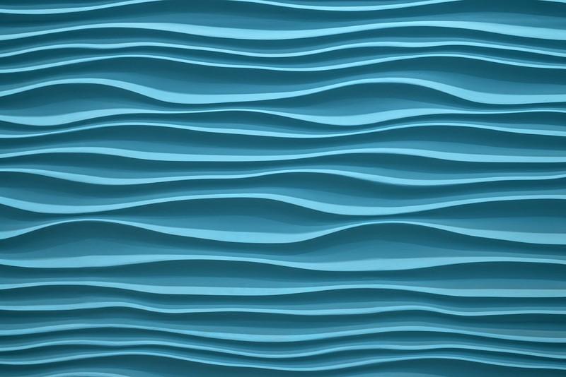 Фотообои Абстракция синие волны